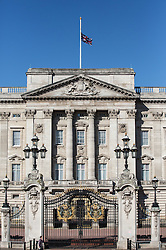 © Licensed to London News Pictures. 02/07/2015. London, UK. The Union Flag above Buckingham Palace is flying at half mast today in memory of the 30 British tourists that died in the terrorist attack in Sousse, Tunisia last week. Photo credit : James Gourley/LNP