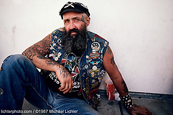 Street Portrait, Sturgis, South Dakota, 1987<br /> <br /> Limited Edition Print from an edition of 15. Photo ©1987 Michael Lichter.