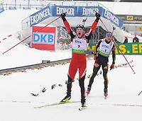 IBU World Cup Biathlon men, WC skiskyting menn, 21.03.09,<br /> A pleased Simon Eder, AUT,<br /> Foto: Carl-Erik Eriksson, Digitalsport,