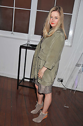 SASHA WILKINS at a party for Giles Deacon hosted by Mercedes Benz held at Elms Lesters Painting Rooms, Flitcroft Street, London WC2 on 19th September 2011.