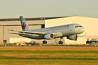 Air Canada A320 landing at Vancouver International Airport