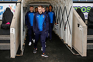 Wimbledon forward Joe Pigott (39) arrives with his team mates during the EFL Sky Bet League 1 match between Coventry City and AFC Wimbledon at the Ricoh Arena, Coventry, England on 12 January 2019.