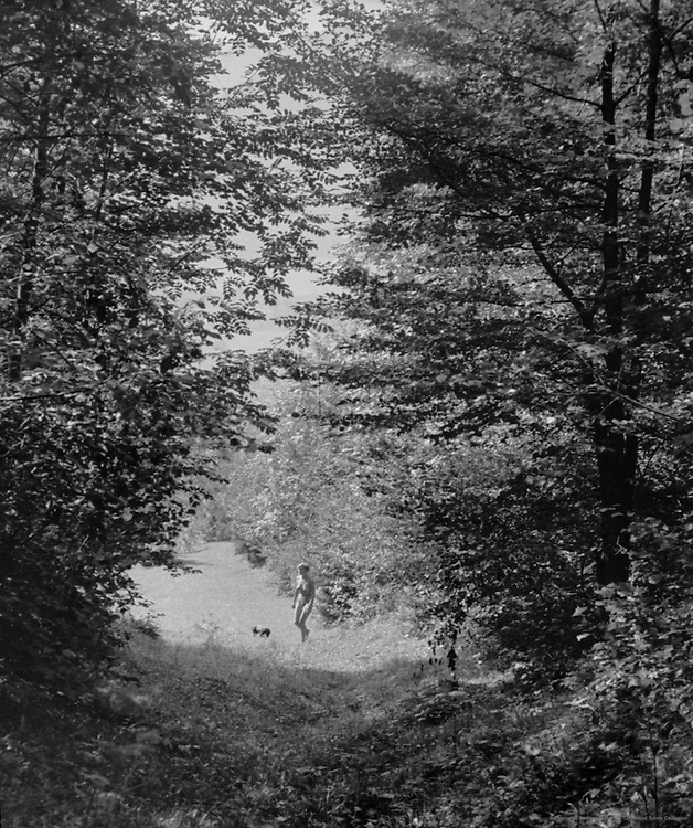 Nude Gertraud Braun in the forest, Austria, 1934