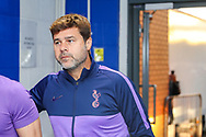 Tottenham Hotspur Manager Mauricio Pochettino arrives ahead of the EFL Cup match between Colchester United and Tottenham Hotspur at the JobServe Community Stadium, Colchester, England on 24 September 2019.