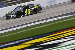 April 8, 2018 - Ft. Worth, Texas, United States of America - April 08, 2018 - Ft. Worth, Texas, USA: Jimmie Johnson (48) brings his race car down the front stretch during the O'Reilly Auto Parts 500 at Texas Motor Speedway in Ft. Worth, Texas. (Credit Image: © Chris Owens Asp Inc/ASP via ZUMA Wire)
