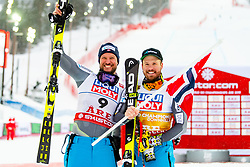 February 9, 2019 - Re, SWEDEN - 190209 Aksel Lund Svindal and Kjetil Jansrud of Norway celebrates on the podium after the  men's downhill during the FIS Alpine World Ski Championships on February 9, 2019 in re..Photo: Joel Marklund / BILDBYRN / kod JM / 87853 (Credit Image: © Joel Marklund/Bildbyran via ZUMA Press)