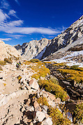 Hikers on the Mount Whitney Trail, John Muir Wilderness, California USA