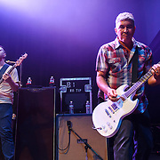 """WASHINGTON, DC - May 5th, 2014 - Nate Mendel and Pat Smear of the Foo Fighters perform at the 9:30 Club in Washington D.C. as part of the birthday celebration for Big Tony of Trouble Funk.  The band performed as surprise guests and played a set full of hits such as """"My Hero"""" and """"These Days."""" (Photo by Kyle Gustafson / For The Washington Post)"""