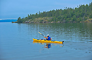 Kayaking on Lake Superior (Great Lakes)<br />Rossport<br />Ontario<br />Canada