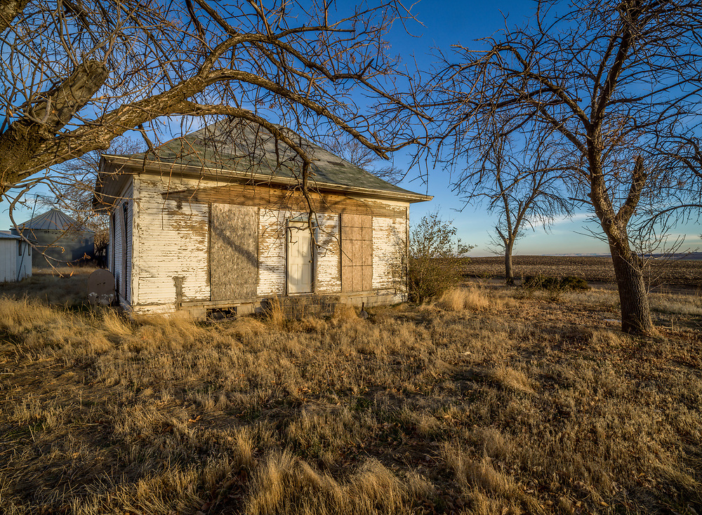 Open Edition Print <br /> Abandoned house near potato cellars in South Central Idaho