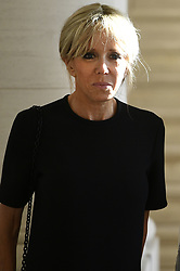 May 25, 2017 - Brussels, BELGIUM - First Lady of France Brigitte Macron pictured before a diner of the First Ladies and Queen at the Royal castle in Laken/Laeken, on Thursday 25 May 2017, in Brussels. US President Trump is on a two day visit to Belgium, to attend a NATO (North Atlantic Treaty Organization) summit on Thursday. BELGA PHOTO YORICK JANSENS (Credit Image: © Yorick Jansens/Belga via ZUMA Press)