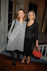 Left to right, News readers KATIE DERHAM and EMILY MAITLIS at a party to celebrate the publication of 101 World Heroes by Simon Sebag-Montefiore at The Savile Club, 69 Brook Street, London W1 on 9th October 2007.<br /><br />NON EXCLUSIVE - WORLD RIGHTS