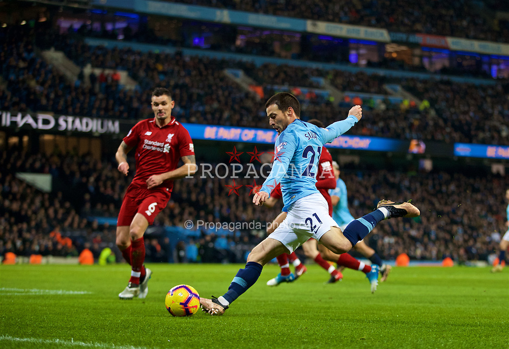MANCHESTER, ENGLAND - Thursday, January 3, 2019: Manchester City's David Silva during the FA Premier League match between Manchester City FC and Liverpool FC at the Etihad Stadium. (Pic by David Rawcliffe/Propaganda)