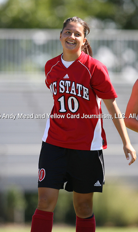 NC State's Carol Tognetti on Sunday, October 1st, 2006 at Koskinen Stadium in Durham, North Carolina. The Duke Blue Devils defeated the North Carolina State University Wolfpack 3-0 in an Atlantic Coast Conference NCAA Division I Women's Soccer game.