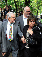 Rolf Harris arrives at Southwark crown court to be jailed for five years nine months for indecently assaulting girls, London UK, 04 July 2014, Photo by Mike Webster