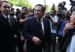 August 2, 2017 - Bangkok / Nonthaburi, Bangkok / Nonthaburi, Thailand - Thai Politician supreme court has dismissed a case of Somchai Wongsawat, the former prime minister of Thailand and another 3 companions over accusation of 2008 crackdown orders on People's Alliance for Democracy (PAD) also known as yellow shirt protesters. The incident have caused 2 dead and many injured. Court has considered that this protest was not deliver by peaceful and respect to the law. Some protesters has been found weapon carrying. (Credit Image: © Thitinun Sampiphat/Pacific Press via ZUMA Wire)