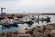 Fishing boats in the harbour, Gran Tarajal, Fuerteventura, Canary Islands, Spain