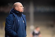 Scunthorpe United manager Neil Cox half body portrait  during the EFL Sky Bet League 2 match between Scunthorpe United and Grimsby Town FC at the Sands Venue Stadium, Scunthorpe, England on 23 January 2021.