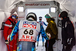 February 8, 2019 - Re, SWEDEN - 190208 Zack Monsen and Filip Platter of Sweden at a men's downhill training session during the FIS Alpine World Ski Championships on February 8, 2019 in re..Photo: Joel Marklund / BILDBYRN / kod JM / 87852 (Credit Image: © Joel Marklund/Bildbyran via ZUMA Press)