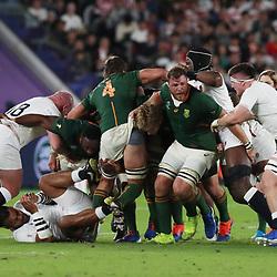 Duane Vermeulen of South Africa during the Rugby World Cup Final match between South Africa Springboks and England Rugby World Cup Final at the International Stadium Yokohama  Japan.Saturday 02 November 2019. (Mandatory Byline - Fotosport/David Gibson)