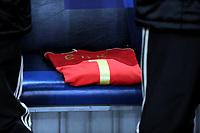 Fotball<br /> Tyskland v Elfenbenskysten<br /> Foto: Witters/Digitalsport<br /> NORWAY ONLY<br /> <br /> 18.11.2009<br /> <br /> Trikot auf der Ersatzbank zum Gedenken an Torwart Robert Enke Deutschland<br /> Fussball Testspiel Deutschland - Elfenbeinkueste 2:2