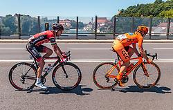 05.07.2017, Altheim, AUT, Ö-Tour, Österreich Radrundfahrt 2017, 3. Etappe von Wieselburg nach Altheim (226,2km), im Bild Peter Kusztor (HUN, Amplatz BMC), Jan Tratnik (SLO, CCC Sprandi Polkowice) // Peter Kusztor (HUN Amplatz BMC) Jan Tratnik (SLO CCC Sprandi Polkowice) during the 3rd stage from Wieselburg to Altheim (199,6km) of 2017 Tour of Austria. Altheim, Austria on 2017/07/05. EXPA Pictures © 2017, PhotoCredit: EXPA/ JFK