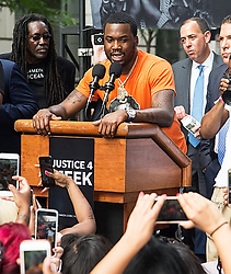Meek Mill attends 'Stand with Meek Mill' rally at Philadelphia Criminal Justice Center after his court appearance in Philadelphia, PA. 18 Jun 2018 Pictured: Meek Mill. Photo credit: MEGA TheMegaAgency.com +1 888 505 6342