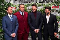 (L-R) Charlie Hunnam, Ben Affleck, Garrett Hedlund and Oscar Isaac attend the Triple Frontier premiere held at Callao Cinema on March 6, 2019 in Madrid, Spain. Photo by Alconada/AlterPhotos/ABACAPRESS.COM