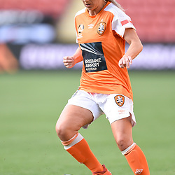 BRISBANE, AUSTRALIA - NOVEMBER 17: Tameka Butt of the Roar in action during the round 4 Westfield W-League match between the Brisbane Roar and Adelaide United at Suncorp Stadium on November 17, 2017 in Brisbane, Australia. (Photo by Patrick Kearney / Brisbane Roar)