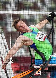 TOKYO, JAPAN --AUGUST 29:  Henrik Plank of Slovenia competes in the Men's Discus Throw Clas F52 Final on day 5 of the Tokyo 2020 Paralympic Games at Olympic Stadium on August 29, 2021 in Tokyo, Japan. Photo by Vid Ponikvar / Sportida