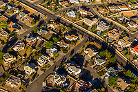 Aerial view of homes, Albuquerque, New Mexico USA.