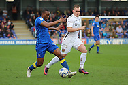 AFC Wimbledon striker Dominic Poleon (10) dribbling during the EFL Sky Bet League 1 match between AFC Wimbledon and Northampton Town at the Cherry Red Records Stadium, Kingston, England on 11 March 2017. Photo by Matthew Redman.