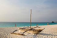A dhow on the beach at Kendwa, Zanzibar, Tanzania