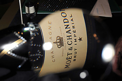 Champagne bottle at the opening of the Atelier Moet pop-up boutique, 70 New Bond Street, London on 3rd December 2008.