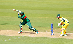 Bangladesh's Shakib Al Hassan in action during the ICC Champions Trophy, Group A match at The Oval, London.