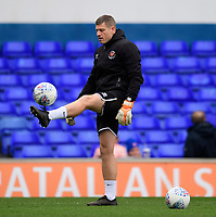 Blackpool's goalkeeping coach Steve Banks during the pre-match warm-up<br /> <br /> Photographer Chris Vaughan/CameraSport<br /> <br /> The EFL Sky Bet League One - Ipswich Town v Blackpool - Saturday 23rd November 2019 - Portman Road - Ipswich<br /> <br /> World Copyright © 2019 CameraSport. All rights reserved. 43 Linden Ave. Countesthorpe. Leicester. England. LE8 5PG - Tel: +44 (0) 116 277 4147 - admin@camerasport.com - www.camerasport.com