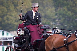 Chester Weber, (USA), Boris W, Boy W, Para, Splash, Uniek - Driving dressage day 2 - Alltech FEI World Equestrian Games™ 2014 - Normandy, France.<br /> © Hippo Foto Team - Dirk Caremans<br /> 05/09/14