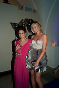 ASLI ARAH; BODIL BLAIN, The Surrealist Ball in aid of the NSPCC. Hosted by Lucy Yeomans and Harry Blain. Banqueting House. Whitehall. 17 March 2011. -DO NOT ARCHIVE-© Copyright Photograph by Dafydd Jones. 248 Clapham Rd. London SW9 0PZ. Tel 0207 820 0771. www.dafjones.com.