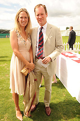 LORD & LADY WROTTESLEY at the Cartier International Polo at Guards Polo Club, Windsor Great Park, Berkshire on 25th July 2010.