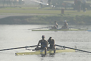 Hazenwinkel, BELGIUM,  W2- bow Baz MOFFAT and Jessica EDDIE, after the A final,  at the GB Rowing Senior Trials, on Mon 16.04.2007  [Credit, Peter Spurrier/Intersport-images]   [Mandatory Credit, Peter Spurier/ Intersport Images]. , Rowing Course, Bloso, Hazewinkel. BELGUIM