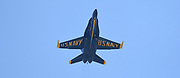 The U.S. Navy's Blue Angels aerobatic flight team arrived at Spirt of St. Louis Airport on Thursday in Chesterfield on September 5, 2019 in advance of the annual Spirit of St. Louis Airshow and STEM Expo which runs Saturday and Sunday, September 7th and 8th. Here they are doing a practice run later in the afternoon so they can familiarize themselves with the area surrounding the airport and coordinate their timing for the weekend performances. <br /> Tim Vizer/Spirit of St. Louis Airshow & STEM Expo
