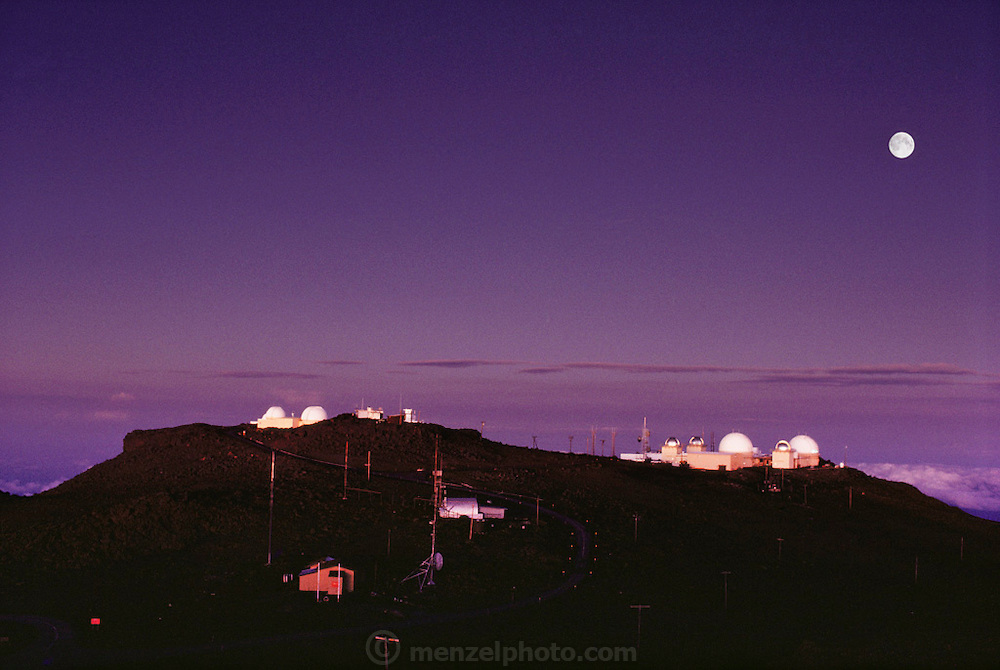 Science City, an observatory run by the Universities of Hawaii and Michigan, and the Dept. of Defense. Haleakala National Park, Maui, Hawaii. USA.