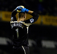 Photo: Ed Godden/Sportsbeat Images.<br /> Tottenham Hotspur v Newcastle United. The Barclays Premiership. 14/01/2007. Spurs' Keeper Paul Robinson, shows his disappointment at the end of the game.