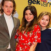NLD/Amsterdam/20180212 - Premiere Gek op Oranje, Tobias Kersloot, Abbey Hoes en Romy Gevers