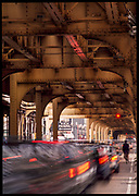 Rush hour traffic, Chicago, Illinois, USA, June 2003