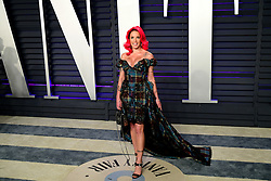 Halsey attending the Vanity Fair Oscar Party held at the Wallis Annenberg Center for the Performing Arts in Beverly Hills, Los Angeles, California, USA.