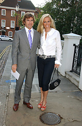 PAUL & VICTORIA STEWART, he is the son of racing driver Jackie Stewart at Sir David & Lady Carina Frost's annual summer party held in Carlyle Square, Chelsea, London on 5th July 2006.<br />