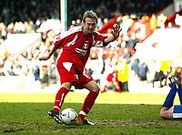 Photo: Chris Ratcliffe.<br />Leyton Orient v Boston United. Coca Cola League 2. 08/04/2006.<br />Paul Connor of Leyton Orient scores to make it 2-0