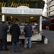 Tubby Isaac jellied eel stand, Whitechapel, London