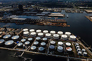 Nederland, Noord-Holland, Amsterdam, 14-06-2012; Westpoort, Westhaven (met Sonthaven, Bosporushaven, Suezhaven, Beringhaven, Hornhaven). Olie opslagtanks van NuStar Terminals (NuStar Energy).luchtfoto (toeslag), aerial photo (additional fee required);.copyright foto/photo Siebe Swart